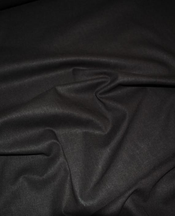 """Ткань Лен """"Темно коричневый"""" 0030 цвет коричневый картинка 1"""
