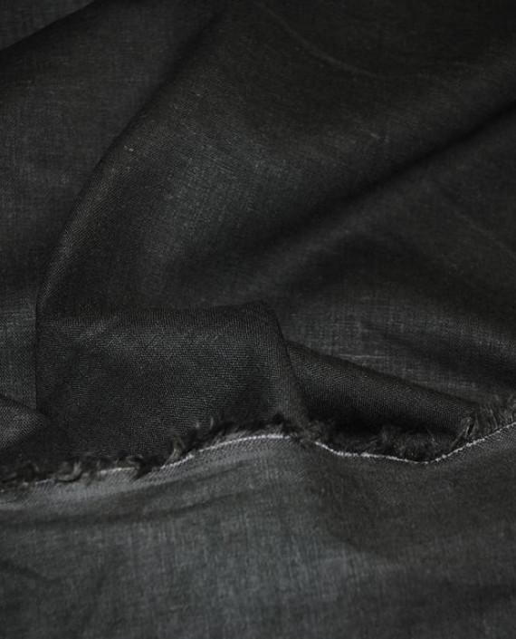 """Ткань Лен """"Темно Зеленый"""" 0031 цвет зеленый картинка"""