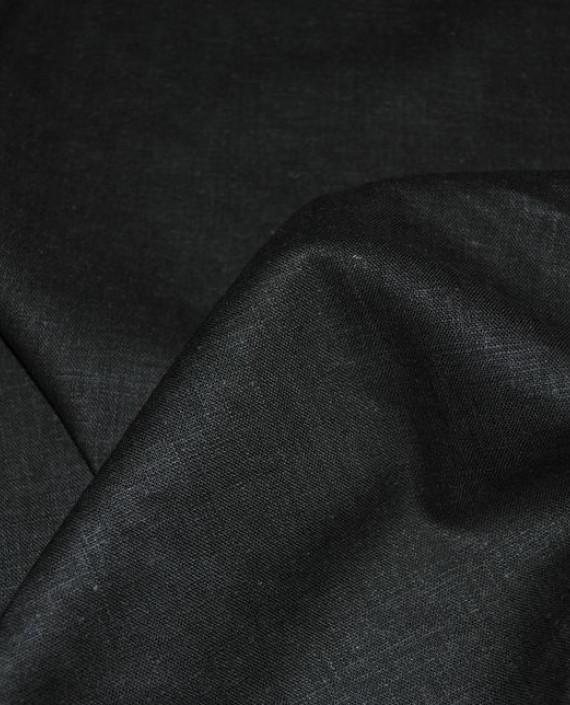 """Ткань Лен """"Темно Зеленый"""" 0031 цвет зеленый картинка 1"""