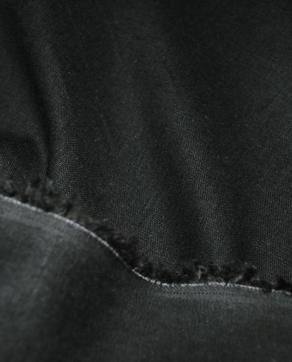"""Ткань Лен """"Темно Зеленый"""" 0031 цвет зеленый картинка 2"""