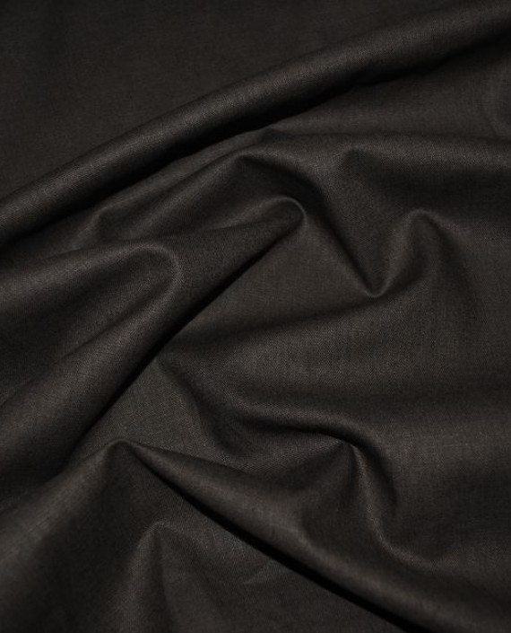 "Ткань Лен ""Темный Хаки"" 0032 цвет серый картинка"