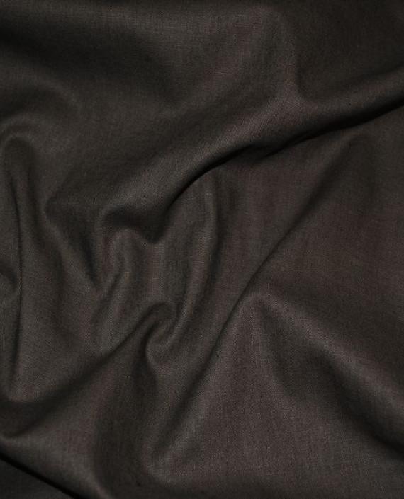 "Ткань Лен ""Темный Хаки"" 0032 цвет серый картинка 2"