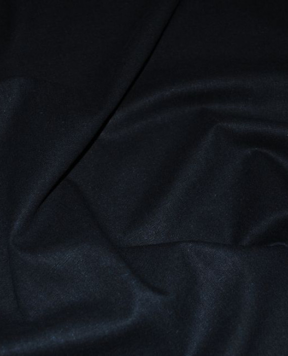 """Ткань Лен """"Полуночно синий"""" 0033 цвет синий картинка"""