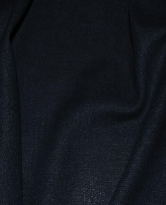 """Ткань Лен """"Полуночно синий"""" 0033 цвет синий картинка 1"""