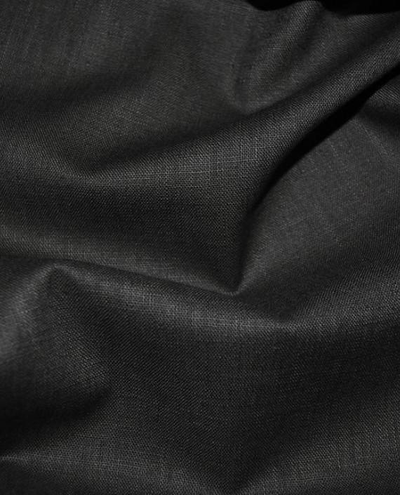 "Ткань Лен ""Хаки"" 0034 цвет серый картинка 1"