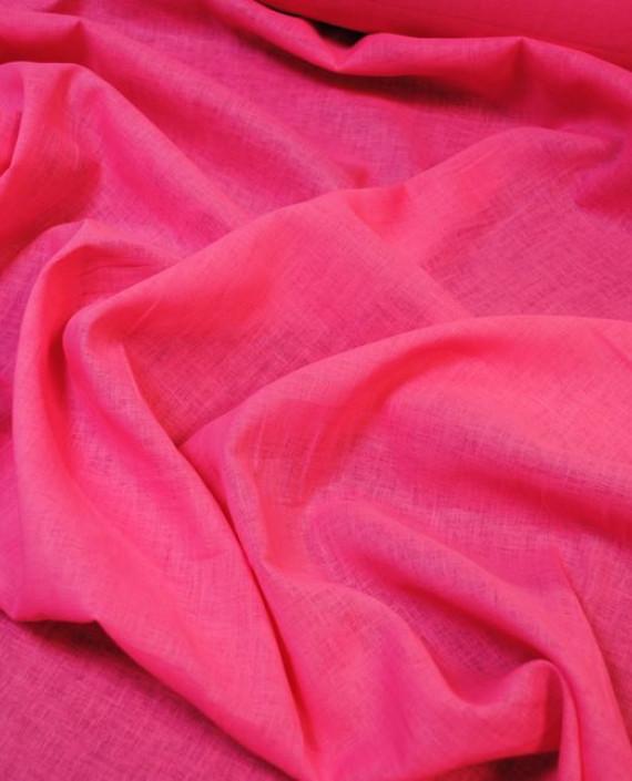 """Ткань Лен """"Ярко Розовый"""" 0036 цвет розовый картинка 1"""