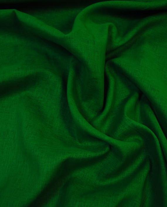 """Ткань Лен """"Изумрудный"""" 0037 цвет зеленый картинка"""