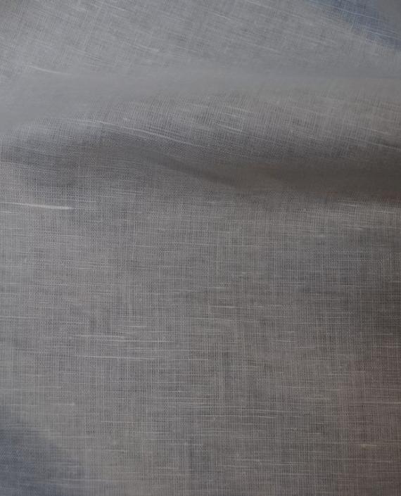 """Ткань Лен """"Белый-4"""" 0038 цвет белый картинка 2"""
