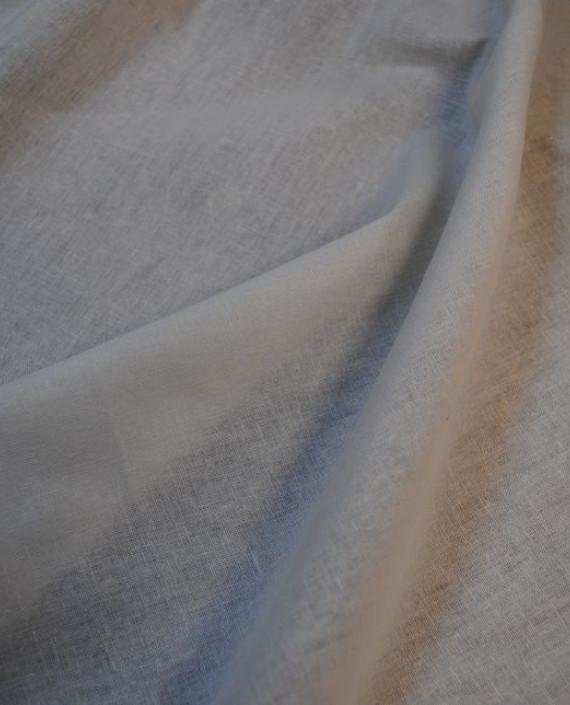 """Ткань Лен """"Белый-5"""" 0040 цвет белый картинка"""