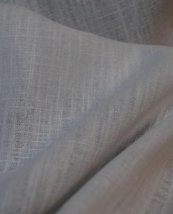 """Ткань Лен """"Белый-6"""" 0042 цвет белый картинка"""