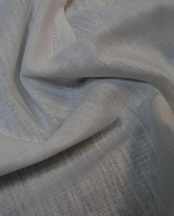 """Ткань Лен """"Белый-6"""" 0042 цвет белый картинка 1"""