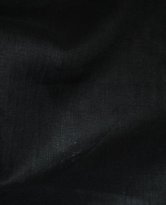"""Ткань Лен """"Черный -2"""" 0043 цвет черный картинка 2"""