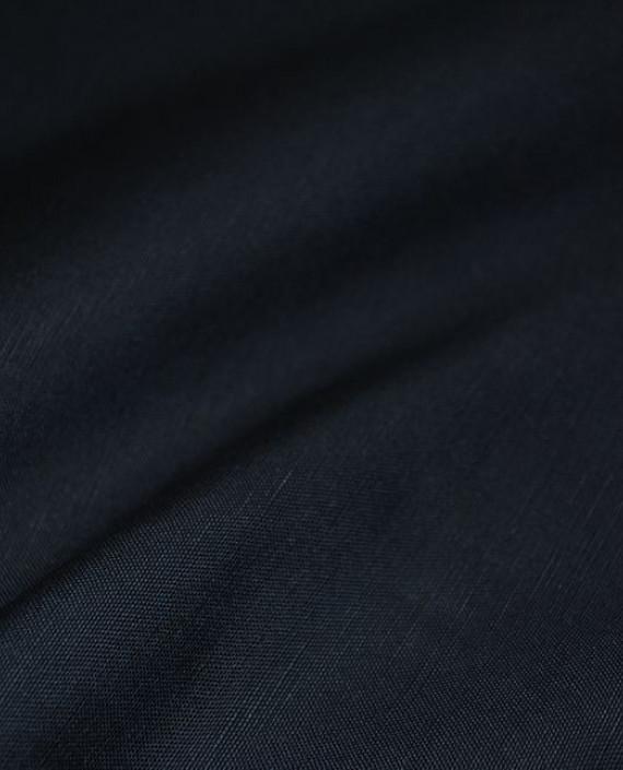 """Ткань Лен """"Синий"""" картинка 1"""