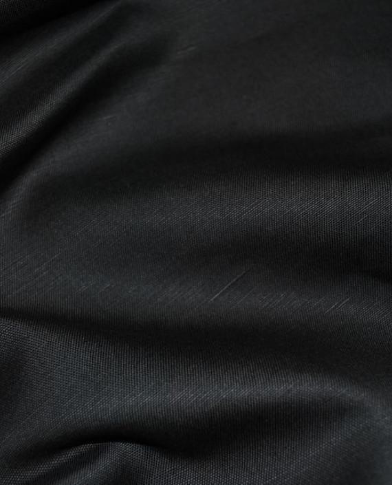 "Ткань Лен ""Мокрый асфальт"" 0046 цвет серый картинка"