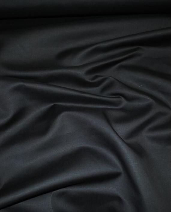 "Ткань Лен ""Мокрый асфальт"" 0046 цвет серый картинка 1"