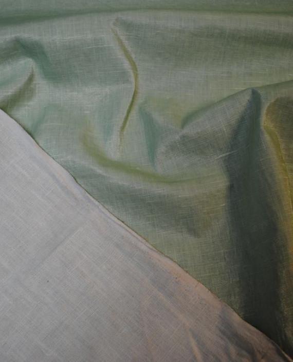 """Ткань Лен Курточный """"Зеленый чай"""" 0051 цвет зеленый картинка"""