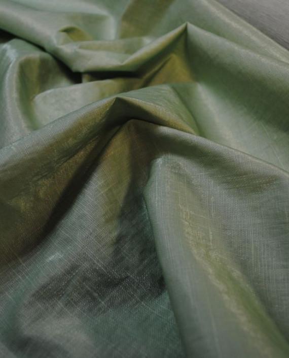 """Ткань Лен Курточный """"Зеленый чай"""" 0051 цвет зеленый картинка 2"""