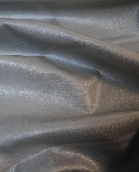 """Ткань Лен Курточный """"Серебро"""" 0052 цвет серый картинка 2"""