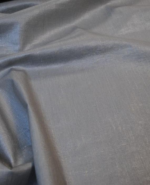 """Ткань Лен Курточный """"Серебро"""" 0052 цвет серый картинка 1"""