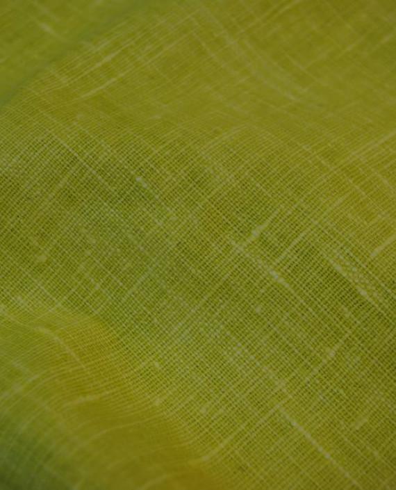 "Ткань Лен Курточный ""Желтый"" 0055 цвет зеленый картинка"