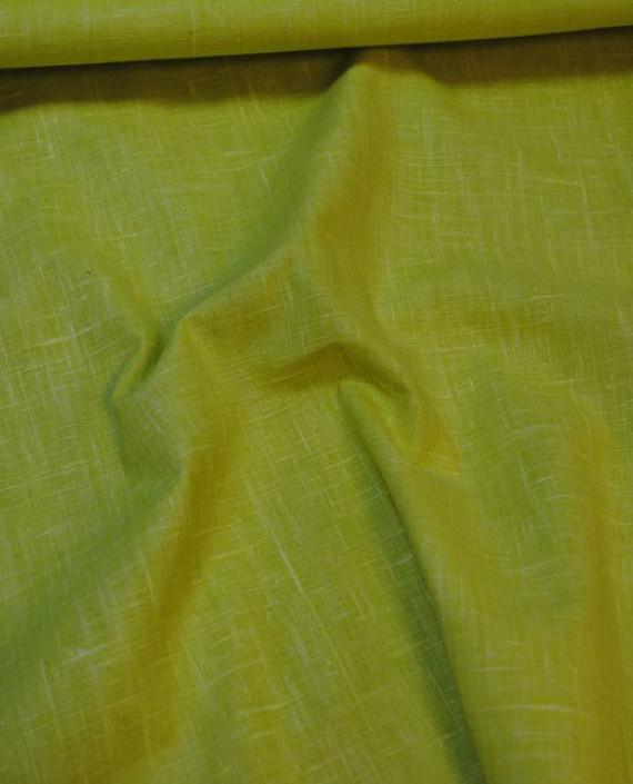 "Ткань Лен Курточный ""Желтый"" 0055 цвет зеленый картинка 2"