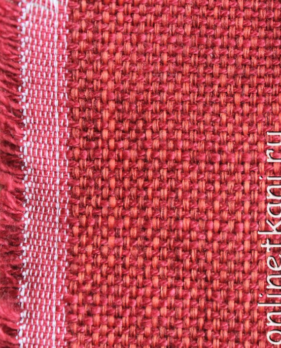"Ткань Гобелен ""Кардинал"" 002 цвет красный крупа картинка"