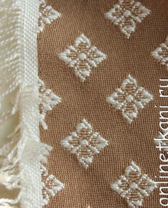 Ткань Гобелен 017 цвет бежевый цветочный картинка