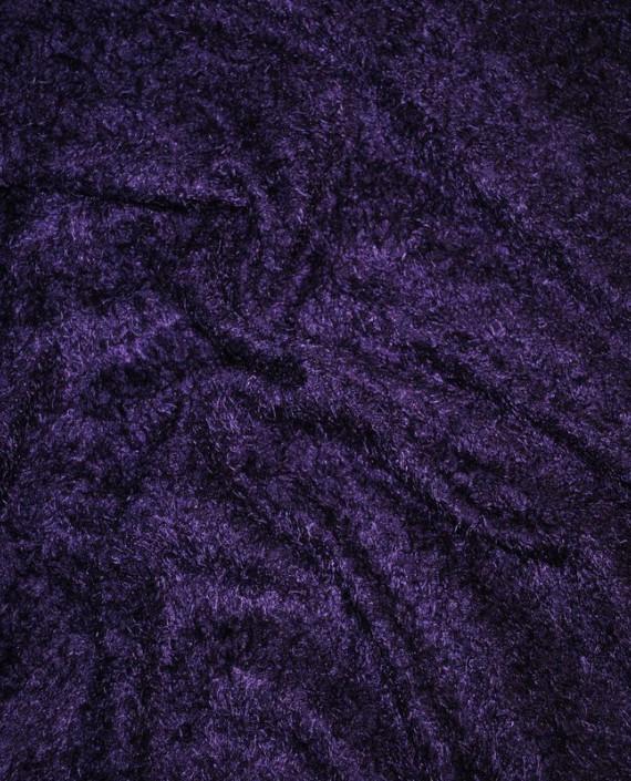 """Искусственный мех """"Слива"""" 0004 цвет фиолетовый картинка 2"""