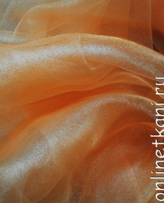 "Ткань Органза ""Мандарин"" 0004 цвет оранжевый картинка"