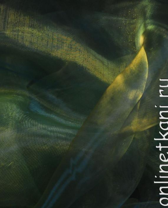 """Ткань Органза """"Зеленый папоротник"""" 0020 цвет зеленый картинка 2"""