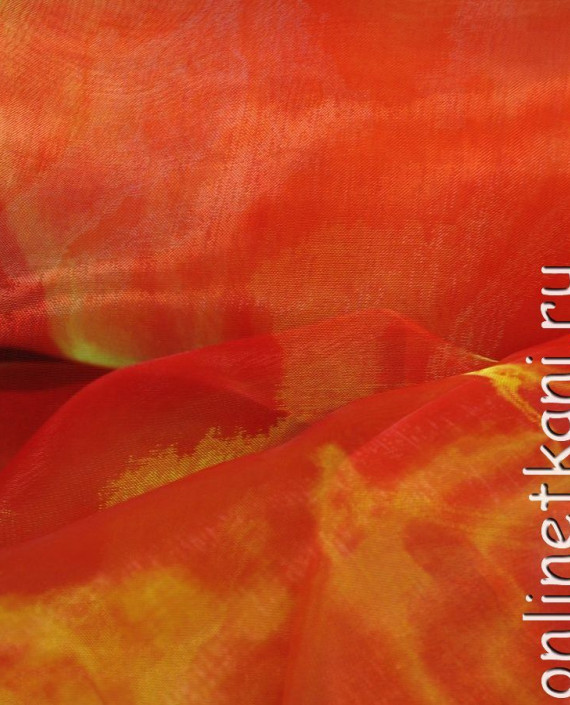 """Ткань Органза """"Тациановая"""" 0024 цвет оранжевый картинка 2"""