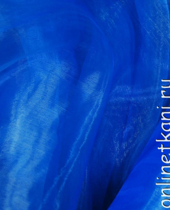 """Ткань Органза """"Голубая"""" 0026 цвет голубой картинка 1"""