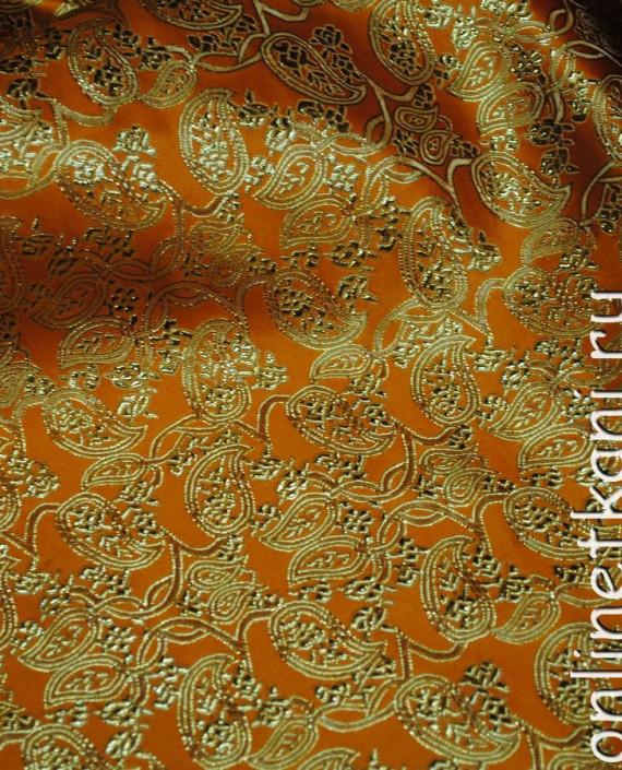 """Ткань Парча """"Золото на желтом"""" 0002 цвет желтый абстрактный картинка 2"""