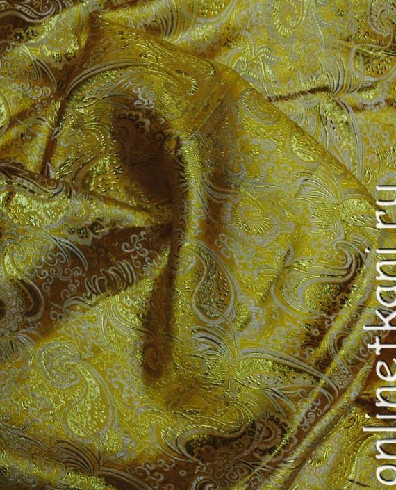 """Ткань Парча """"Золото на песке"""" 0013 цвет хаки абстрактный картинка"""