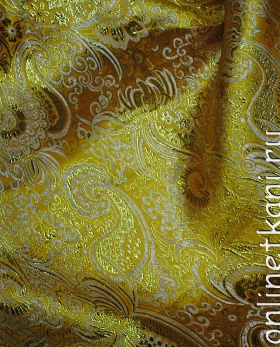 """Ткань Парча """"Золото на песке"""" 0013 цвет хаки абстрактный картинка 1"""