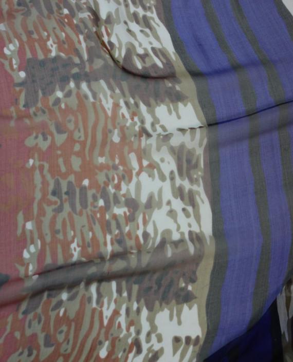 """Ткань Шелк Шифон """"Сафари"""" 4002 цвет разноцветный абстрактный картинка 2"""
