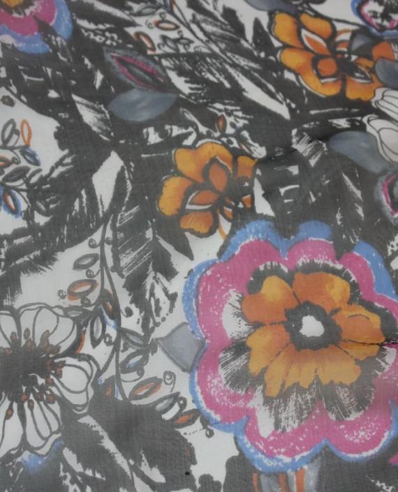 """Ткань Шелк Шифон """"Шиповник"""" 4001 цвет разноцветный цветочный картинка"""