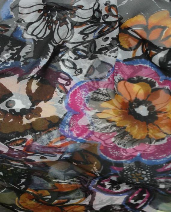 """Ткань Шелк Шифон """"Шиповник"""" 4001 цвет разноцветный цветочный картинка 1"""