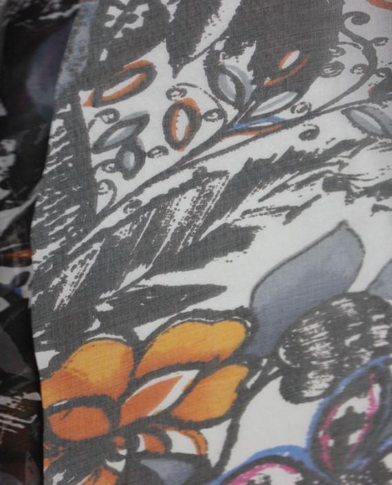 """Ткань Шелк Шифон """"Шиповник"""" 4001 цвет разноцветный цветочный картинка 2"""