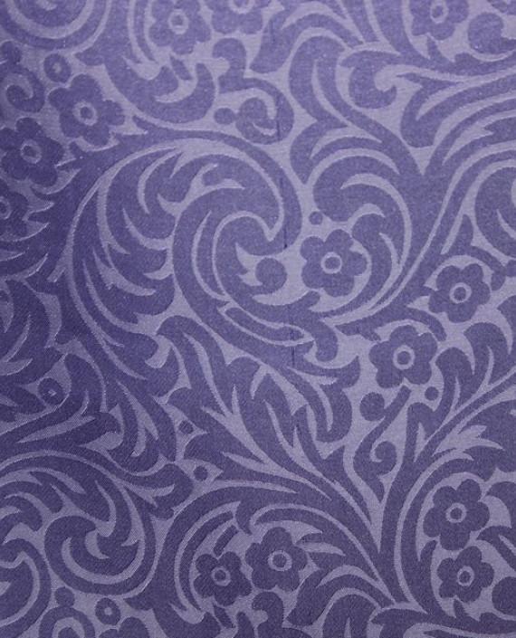 """Ткань Шелк Жаккард """"Аметистовый"""" 0024 цвет фиолетовый цветочный картинка"""