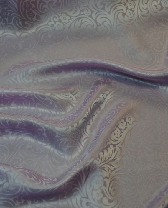 """Ткань Шелк Жаккард """"Розовый"""" 0027 цвет розовый цветочный картинка 3"""