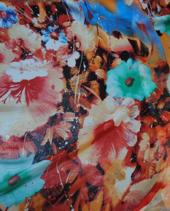 """Ткань Шелк Шифон """"Цветы"""" 0055 цвет разноцветный цветочный картинка"""