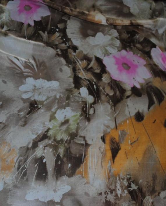 """Ткань Шелк Шифон """"Последний цвет"""" 0060 цвет разноцветный абстрактный картинка"""