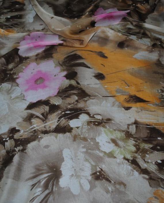 """Ткань Шелк Шифон """"Последний цвет"""" 0060 цвет разноцветный абстрактный картинка 2"""
