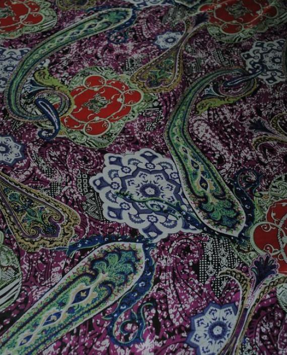 """Ткань Шелк Шифон """"Набивные огурцы"""" 0065 цвет разноцветный абстрактный картинка 2"""