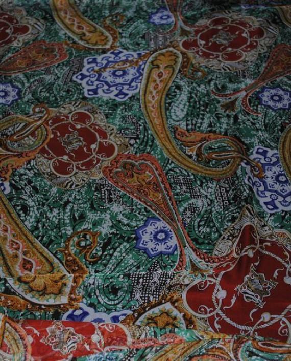 """Ткань Шелк Шифон """"Набивные огурцы-2"""" 0073 цвет разноцветный абстрактный картинка"""