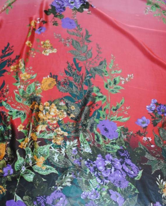 """Ткань Шелк Шифон """"Цветочная поляна-2"""" 0075 цвет разноцветный цветочный картинка 2"""