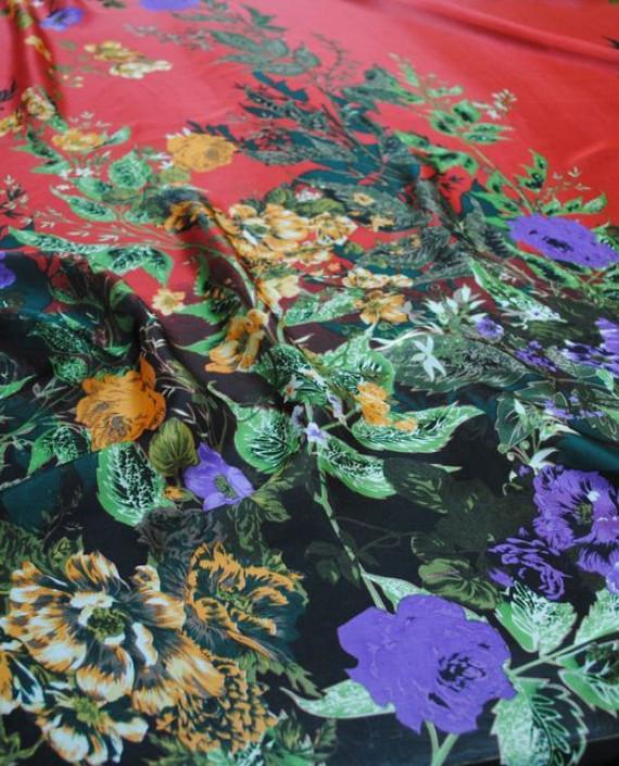 """Ткань Шелк Шифон """"Цветочная поляна-2"""" 0075 цвет разноцветный цветочный картинка"""