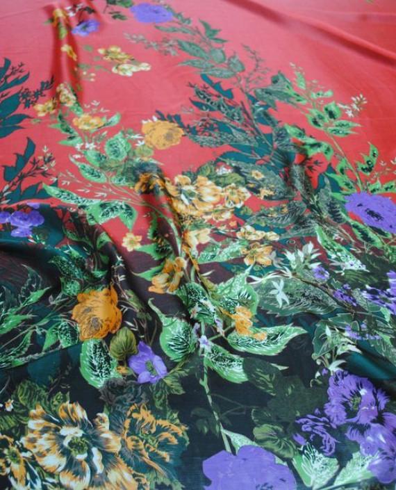 """Ткань Шелк Шифон """"Цветочная поляна-2"""" 0075 цвет разноцветный цветочный картинка 1"""