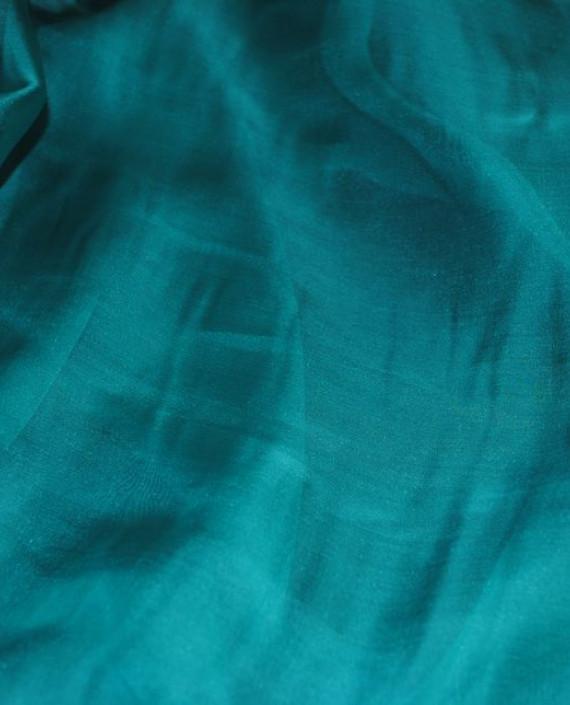 "Ткань Шелк Шифон ""Зелено-морской"" 0078 цвет бирюзовый картинка 2"